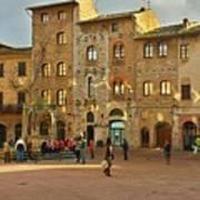 Piazza Della Cisterna Art Print