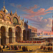 Piazza Di San Marco. Venice Art Print