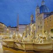 Piazza Navona, Rome Art Print