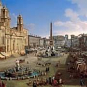 Piazza Novona - Rome Art Print