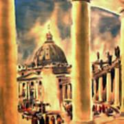 Piazza San Pietro In Roma Italy Art Print
