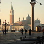 Piazzetta San Marco In Venice In The Morning Art Print