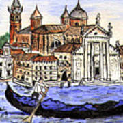 Piazzo San Marco Venice Italy Art Print