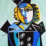 Picasso By Nora  The Queen Art Print