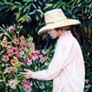 Picking A Bouquet Art Print
