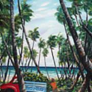 Picking Coconuts .. Mayaro Art Print