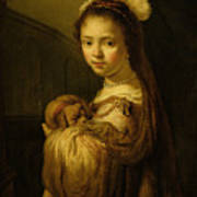 Picture Of A Young Girl Print by Govaert Flinck