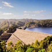 Picturesque Hydroelectric Dam Art Print