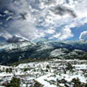 Picturesque Mountain Landscape Art Print