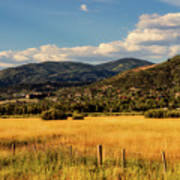 Picturesque View Of Steamboat Springs Colorado Art Print