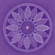Pieces In Purple Art Print