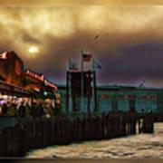 Pier 39 In San Francisco  Art Print