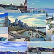 Pier 66 Collage Art Print