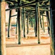 Pier Crisscross Art Print