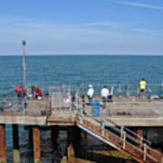 Pier Fishing At Llandudno Art Print