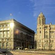 Pier Head Liverpool Panorama 2 Art Print