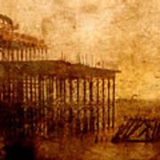 Pier Into The Depths Art Print