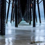 Pier Into The Ocean Art Print