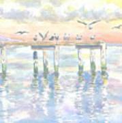 Pier Jury Art Print