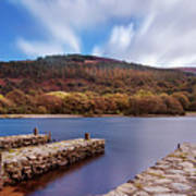 Pier On The Upper Lake In Glendalough - Wicklow, Ireland Art Print