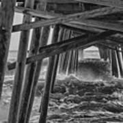Pier Storm Art Print