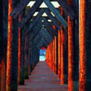 Pier Symmetry   Art Print