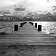 Pier To Mount Tallac Lake Tahoe Art Print