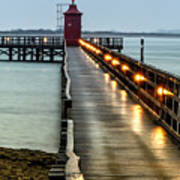 Pier With Lighthouse Art Print