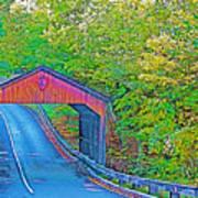 Pierce Stocking Covered Bridge In Sleeping Bear Dunes National Lakeshore-michigan Art Print