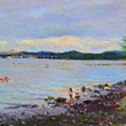 Piermont Shore Ny Art Print
