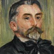 Pierre-auguste Renoir 1841-1919 Portrait Stephane Mallarme Art Print