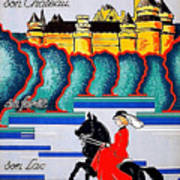 Pierrefonds Castle, Woman On Horse, France Art Print