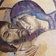 Pieta-mural Detail Art Print