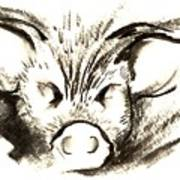 Pig Headed Art Print