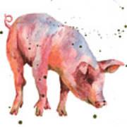 Pig Painting Art Print