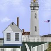 Pigeon Point Lighthouse California Art Print