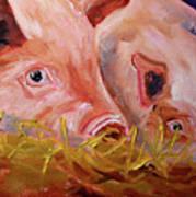 Piglet Pair Art Print