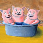 Pigs In A Tub Art Print