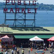 Pike Place Public Market Art Print