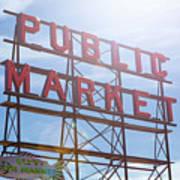 Pike Place Public Market Sign Art Print