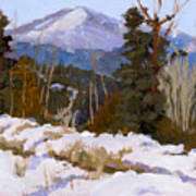 Pikes Peak Winter View Art Print
