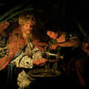 Pilate Washing His Hands Print by Stomer Matthias