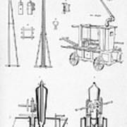 Pile Driver, Fire Engine, Steam Engine Art Print
