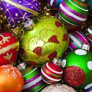 Pile Of Beautiful Ornaments Art Print