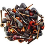 Pile Pipes Art Print