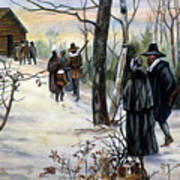 Pilgrims: Church Art Print