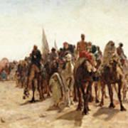 Pilgrims Going To Mecca Art Print