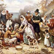 Pilgrims: Thanksgiving, 1621 Art Print