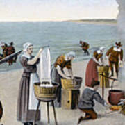 Pilgrims Washing Day, 1620 Art Print