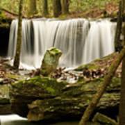 Pillar And Waterfall Art Print